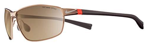 Nike Men's Stride Rectangular Sunglasses, Walnut/Classic Brown, 62 mm