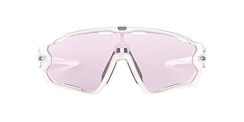 Oakley Men's OO9290 Jawbreaker Shield Sunglasses, Polished White/Prizm Low Light, 31 mm