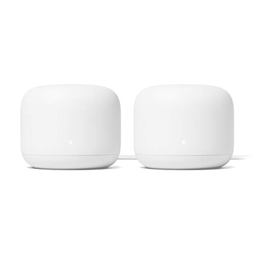 Google Nest Wifi - AC2200 - Mesh WiFi System - Wifi Router -4400 Sq Ft Coverage- 2 pack