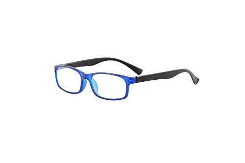 Readerest Blue Light Blocking Reading Glasses, UV Protection and Anti-Reflective Lenses, Spring Hinge Computer Reading Glasses, Tahoe Sunset (2.00 Magnification, Blue/Black)