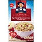 Quaker, Instant Oatmeal, Apples & Cranberries, 12.1oz Box (Pack of 4)