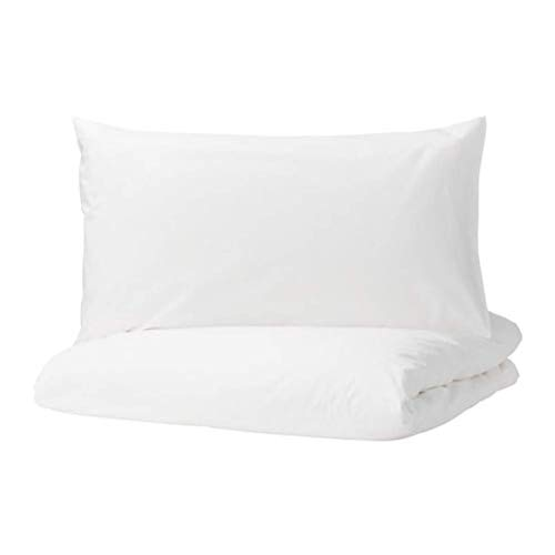 IKEA Dvala Duvet Cover and Pillowcases White Size: King 003.779.55