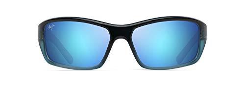 Maui Jim unisex adult Barrier Reef Sunglasses, Blue W/Turquoise/Blue Hawaii Polarized, Medium US