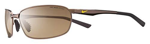 Nike Men's Avid Wire Rectangular Sunglasses, Walnut/Brown Lens, 61 mm