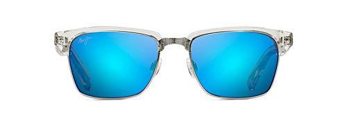 Maui Jim Kawika w/ Patented PolarizedPlus2 Lenses Polarized Fashion Sunglasses, Crystal/Blue Hawaii Polarized, Medium