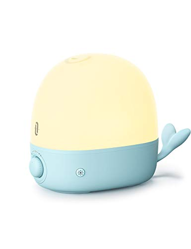 TaoTronics Humidifiers 3-IN-1 Premium Humidifier 26dB Quiet Ultrasonic 2.5L Cool Mist Humidifier for Bedroom Babies Essential Oil Diffuser With Night Light Automatic Shut-Off Easy to Clean White
