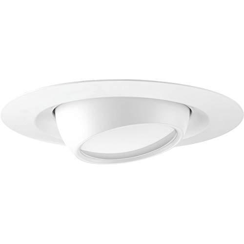 Progress Lighting P8076-28-30K Recessed 6' LED Eyeball Trim, Satin White