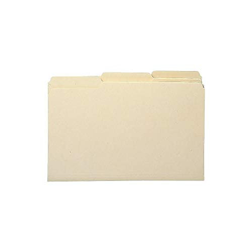 Staples 810353 Heavyweight Manila File Folders 3 Tab Legal 50/Box