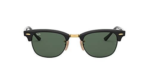 Ray-Ban Unisex-Adult RB4354 Sunglasses, Black/Green, 48 mm