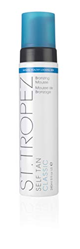 St. Tropez Self Tan Classic Bronzing Mousse, Vegan Self Tanner for a Sunkissed Glow, Lightweight, 100% Natural Self Tanning Active, 8 Fl Oz