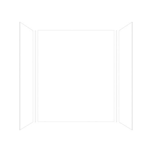 Transolid EWK603272-31 Expressions 3-Panel Shower Wall Kit, 32-in L x 60-in W x 72-in H, White