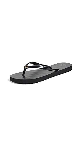 Tory Burch Women's Thin Flip Flops, Black, 11 Medium US