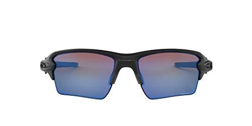Oakley Men's OO9188 Flak 2.0 XL Rectangular Sunglasses, Matte Black/Prizm Deep H2O Polarized, 59 mm