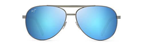 Maui Jim unisex adult Seacliff Sunglasses, Gunmetal/Blue Hawaii Polarized, Medium US