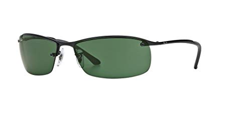 Ray-Ban RB3183 006/71 63M Matte Black/Green Sunglasses For Men