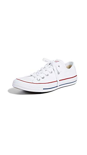 Converse Unisex Chuck Taylor All Star Low Top Optical White Sneakers - 8.5 B(M) US Women / 6.5 D(M) US Men