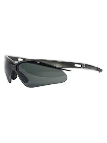 KLEENGUARD V30 Nemesis Polarized Safety Glasses (28635), Polarized Smoke Lenses, Gunmetal Frame
