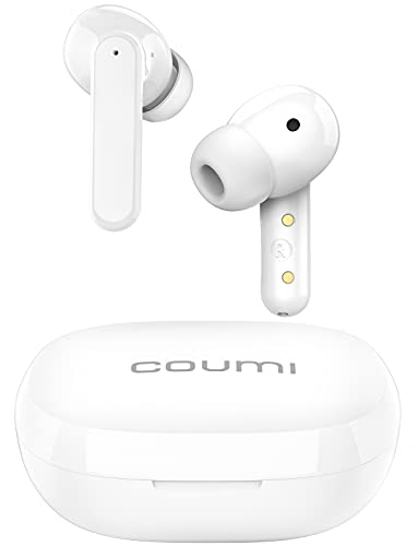 Coumi Hybrid Active Noise Cancelling Wireless Earbuds, ANC Bluetooth Earbuds Transparency Mode 6 Mics Clear Calls with ENC IPX7 Waterproof Bluetooth 5.2 TWS in-Ear Headphones Deep Bass USB-C Charge