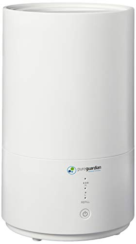 PureGuardian Pure Guardian H950AR Ultrasonic Cool Mist Top Fill Humidifier with Aromatherapy.80-Gallon, White