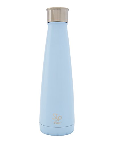 S'well 15 oz Cotton Candy Blue S'ip Insulated, Double-Walled Stainless Steel Water Bottle, 15oz