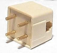 Telephone 4 Prong Plug to Modular Adapter RJ-11 for Standard Vintage or Rotary Phone
