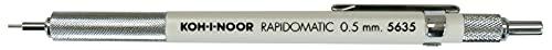 Koh-I-Noor Rapidomatic Mechanical Pencil.5mm lead, White, 1 Each (5635)