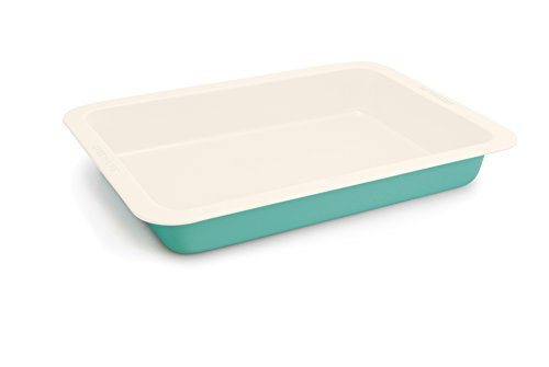 GreenLife 9'x13' Ceramic Non-Stick Cake Pan, Turquoise , Rectangle -