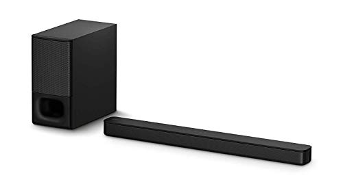 Sony HT-S350 Soundbar with Wireless Subwoofer: S350 2.1ch Sound Bar and Powerful Subwoofer - Home Theater Surround Sound Speaker System for TV - Blutooth and HDMI Arc Compatible Bar Black