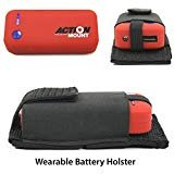 Action Mount Wearable Battery Charger | 5200mAh External Power Pack with Holster. Perfect for Sport Camera or Phone Charging. Most Affordable Wearable Battery Solution. (Red Battery & Holster)
