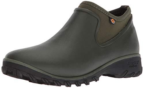 BOGS Women's Sauvie Chelsea Waterproof Garden Rain Boot, Sage, 10