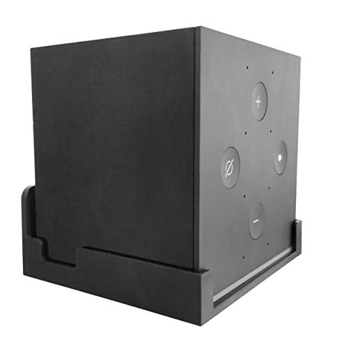 Dot Genie Easy Hanging Fire TV Cube Wall Mount (Fits 1st Gen and New 2nd Gen Fire TV Cube) | Updated for More Support | Totally Hides Cords | Improves Visibility | Quick Install