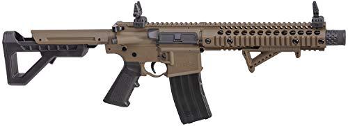 DPMS Full Auto SBR CO2-Powered BB Air Rifle with Dual Action Capability, Flat Dark Earth DSBRFDE