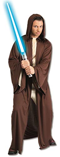 Rubie's Star Wars Adult Hooded Jedi Robe Costume, Brown, One Size Costume