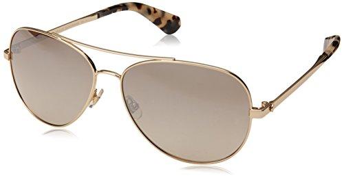 Kate Spade New York Women's Avaline 2 Aviator Sunglasses, GOLD HAVN, 58 mm