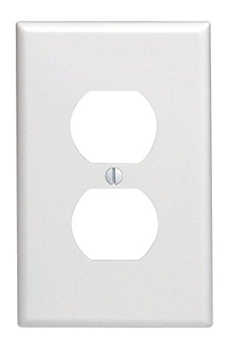 Leviton White 1 gang Thermoset Plastic Duplex Outlet Wall Plate 1 pk