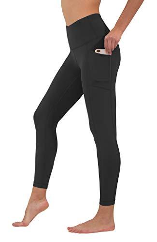 90 Degree By Reflex High Waist Tummy Control Interlink Squat Proof Ankle Length Leggings - Black - XS