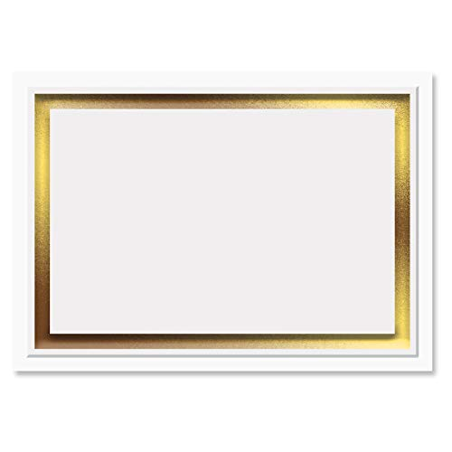 Printable Gold Foil Embossed Premier Reception Cards - Set of 28 3 1/2 by 4 7/8 Inch Reception Cards on 38# Stock, Compatible on Laser and Inkjet Printers