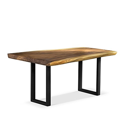 Artemano Freeform Suar Wood Table with Metal Legs, Natural, 94'x44'x30'