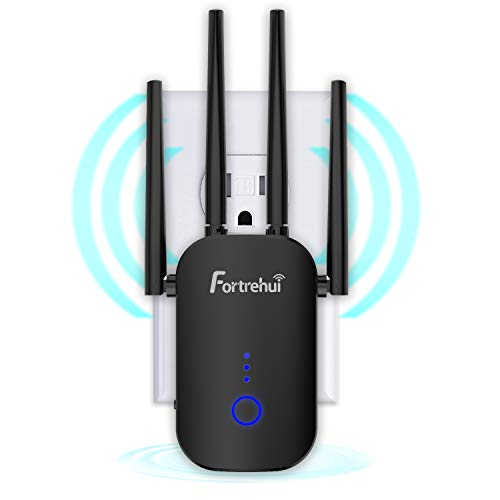WiFi Extender 1200Mbps, WiFi Booster Dual Band 2.4 & 5GHz, WiFi Range Extenders Signal Booster for Home, 3 Working Modes WiFi Repeater and Signal Amplifier with Ethernet Port (B1200Mbps)