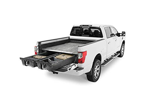 DECKED Pickup Truck Storage System for Nissan Titan (2016-current) 5' 7' Bed Length Includes System Accessories