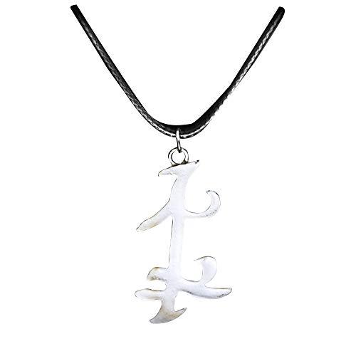 OfficialOtaku Shadowhunters Parabatai Rune Nephilim Cosplay Pendant Necklace - Silver