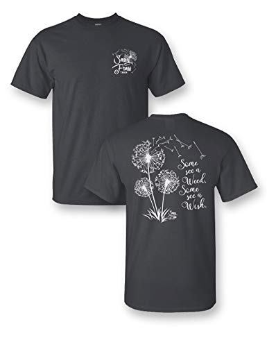 Dandelion Wish Short Sleeve T-Shirt (2X) Charcoal