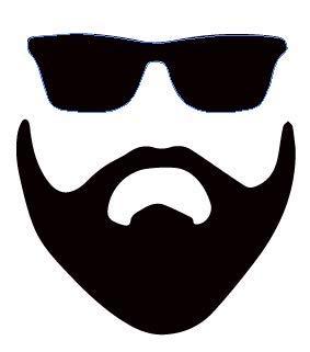 Man Beard - Vinyl Decal Sticker - Movember – Manly Pride – Truck Car Skateboard Bike – Custom Fun – Tumbler Laptop PC Cell Phone Mobile Device - 5.1' W X 5.5' H Black HGC2081.01