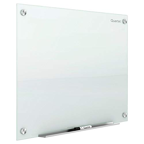 Quartet Glass Whiteboard, Magnetic Dry Erase White Board, 6' x 4', White Surface, Infinity (G7248W)