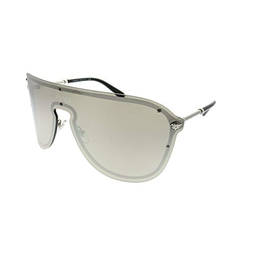 Versace VE2180 Silver/Light Grey Mirror Silver Sunglasses