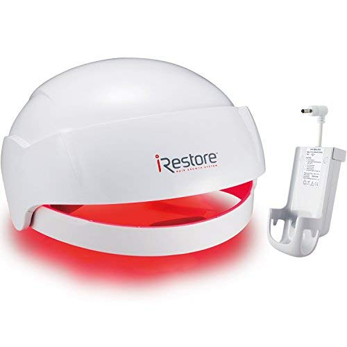 SaIe: iRestore Laser Hair Growth System + Rechargeable Battery Pack – FDA-Cleared Hair Loss Product - Treats Thinning Hair for Men & Women - Laser Hair Therapy Restores Hair Thickness, Volume, Density