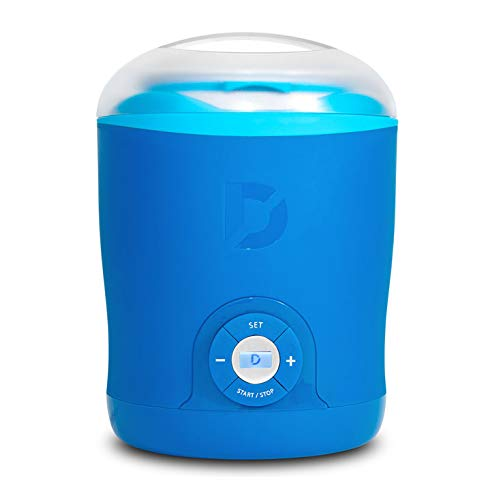 Dash Greek Yogurt Maker Machine with LCD Display + 2 BPA-Free Storage Containers with Lids, Blue