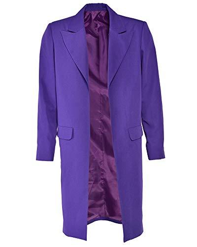 miccostumes Mens Joker Costume Purple Jacket Halloween (M, Purple)