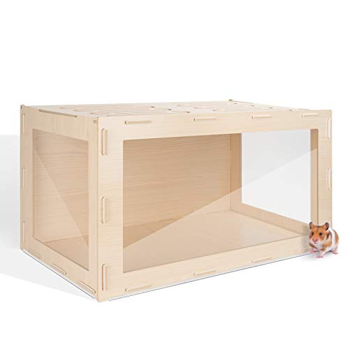 Niteangel Bigger World - MDF Aspen Terrarium (30 x 15 x 17.7 inches, Burlywood)