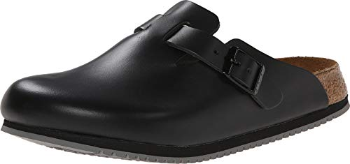 BIRKENSTOCK Boston Super Grip Black Leather 43 (US Men's 10-10.5, US Women's 12-12.5) Regular